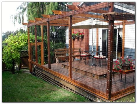 attached house outdoor patio interesting cat enclosures