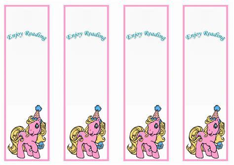 printable birthday bookmarks my little pony bookmarks birthday printable