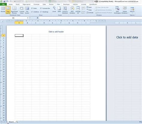 layout of excel worksheet how to switch to page layout view in excel 2010 solve
