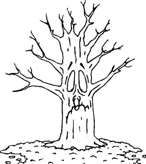 Autumn Tree Colouring Coloring Fall Tree Coloring Page