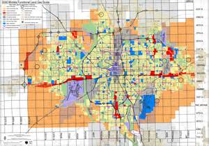 wichita map wichita functional land use guide map wichita ks us