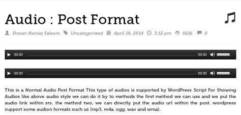 format audio embed audio how can show half or some of wordpress content in