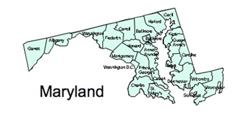 maryland map clipart us printable county maps royalty free