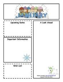 January Preschool Newsletter Template by 1000 Images About Class Newsletter On