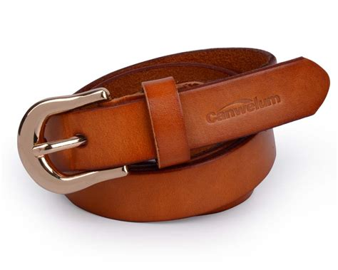 canwelum genuine women s leather belt brown leather belts