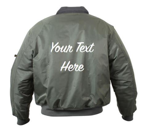 Customized Jacket Personalized Custom Bomber Jacket Back Embroidery