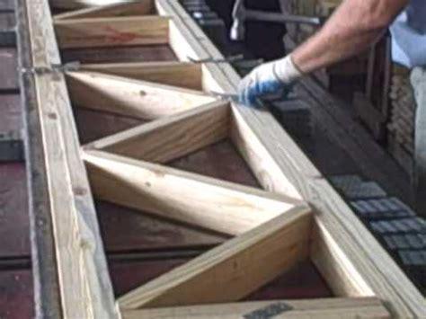 assembling floor truss youtube