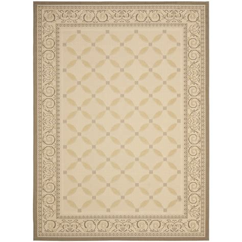 Shop Safavieh Courtyard Rectangular Cream Transitional 9x12 Outdoor Rugs