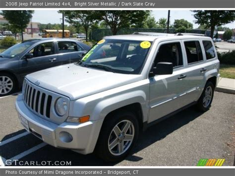 Jeep Patriot Silver Bright Silver Metallic 2008 Jeep Patriot Limited 4x4