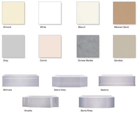 image gallery bathtub colors