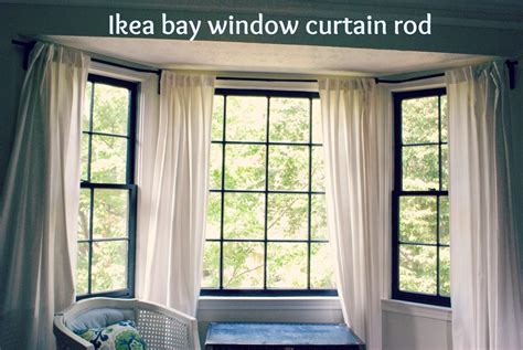 how to put curtains on bay windows curtain rods for bay windows homesfeed