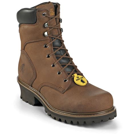 steel toe boots s chippewa 174 insulated steel toe logger boots 201538