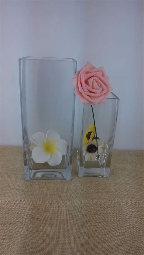 rectangular glass vases for centerpieces handblown rectangular glass vase for wedding