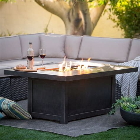 rectangle pit table introducing firepit tables a fiery combination of functions
