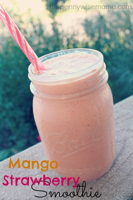 Mango Smoothie Recipe For Detox by Mango Strawberry Smoothie Recipe Yogurt Cups I Cant