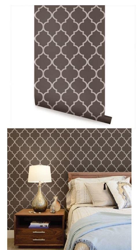 moroccan brown peel  stick wallpaper