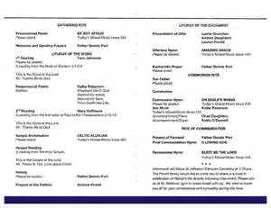 9 funeral mass programagenda template sample agenda