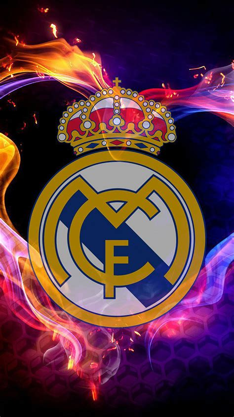 real madrid logo  wallpaper  iphone  pro max