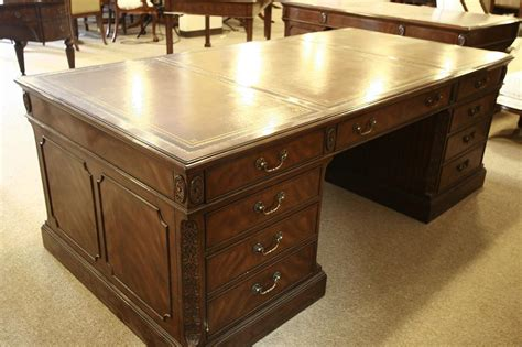 Executive Leather Top Desk Large 84 Inch Leather Top High End Office Desk
