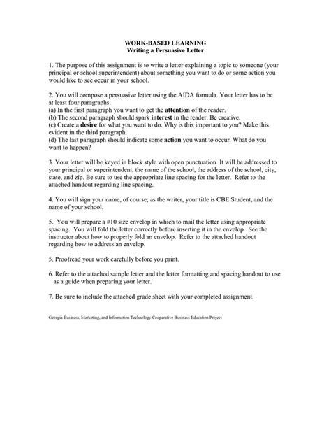 persuasive letter writing a persuasive letter in word and pdf formats