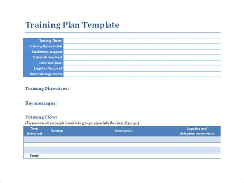 training templates for word sle training plan 12 exle format