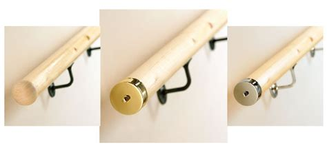 banister components pine wall handrail banister rails round profile