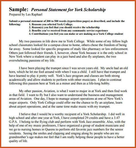 Three Passions Essay by Exle Of Personal Statement Scholarship