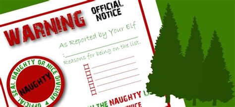 elf on the shelf official warning printable naughty list warning elf on the shelf pinterest