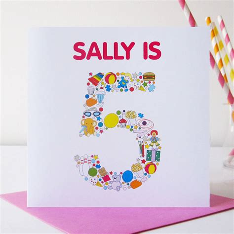 printable birthday card child personalised child s birthday card print by mrs l cards