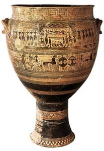 Funerary Vase Krater by Pottery Magistra Oh