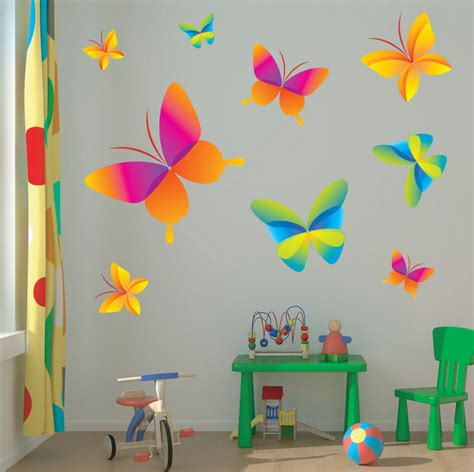children wall sticker childrens butterfly wall stickers interior design ideas