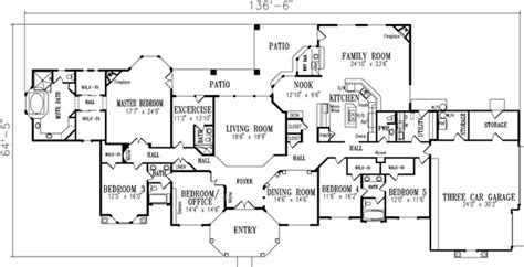 5 bedroom 1 story house plans luxury style house plans 4301 square foot home 1 story