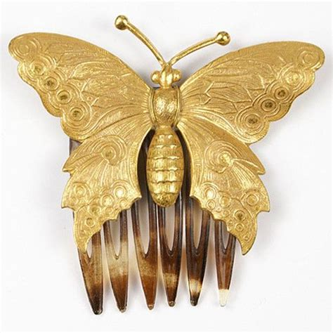 Butterfly Hair Comb miriam haskell golden butterfly hair comb