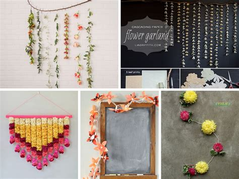 diy decorations garland 7 diy flower garland ideas to decorate your house