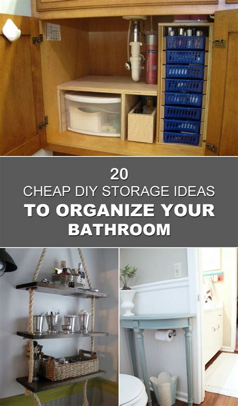 cheap storage ideas 20 cheap diy storage ideas to organize your bathroom