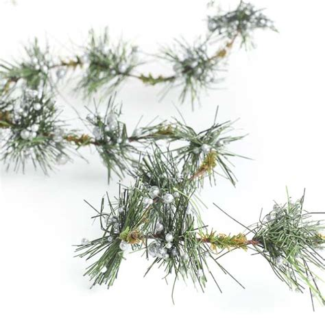 silver berry rope pine garland holiday florals