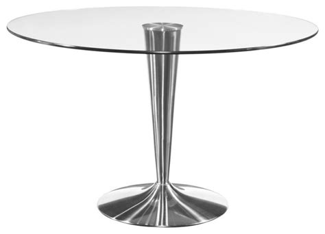 Mirror Glass Dining Table Bassett Mirror Concorde Glass Dining Table W Chrome Base Dining Tables By Beyond Stores