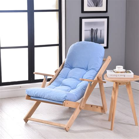 wooden bedroom chair soft and comfortable lazy chair wooden foldable reclining