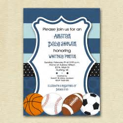 baby shower invitations sports theme baby shower