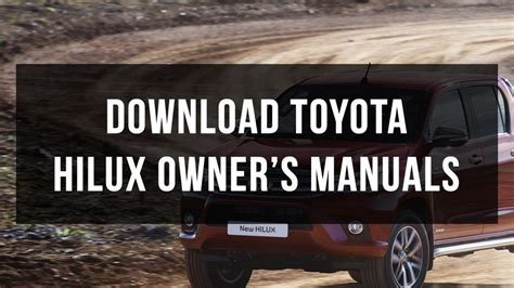 download car manuals pdf free 1994 toyota xtra interior lighting download toyota hilux owner s manuals free pdf youtube