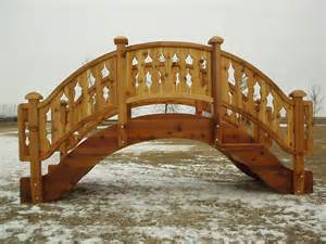 wooden garden bridge garden bridges 4 52ft long elegant wooden landscape garden bridge