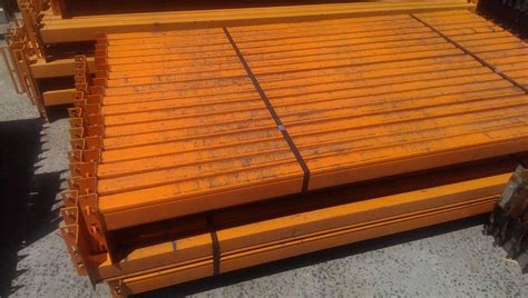 racking components shelving components box beam dexion dexion beams orange 2134 x 83mm box beams pallet racking