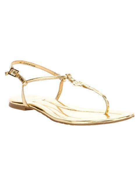burch emmy sandals burch emmy sandal in gold lyst