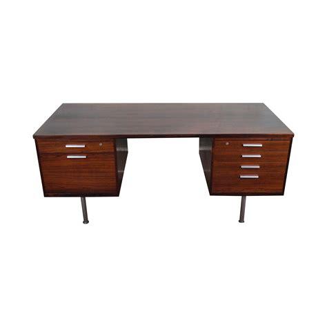 mid century modern executive desk mid century modern rosewood executive desk chairish