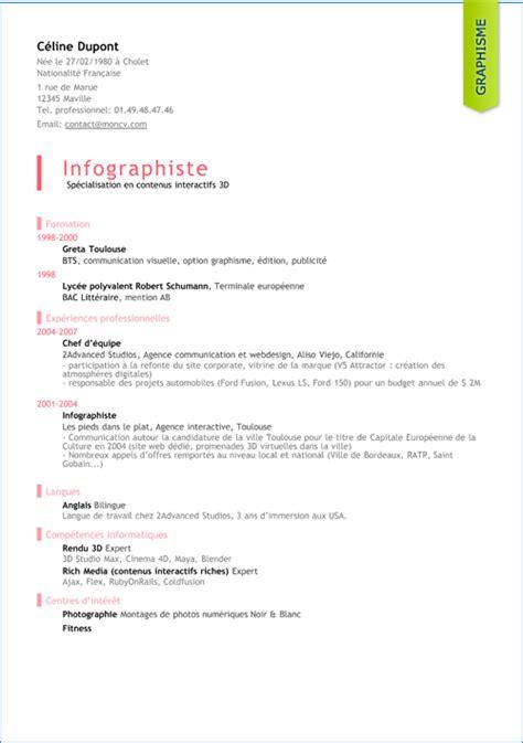 Comment Faire Un Cv Modele by Mod 232 Les De Cv Gratuits Moncv