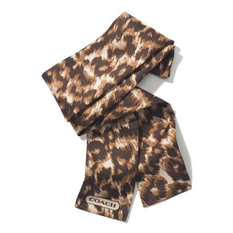Coach Madison Ocelot Ponytail Scarf In Animal Khaki Lyst