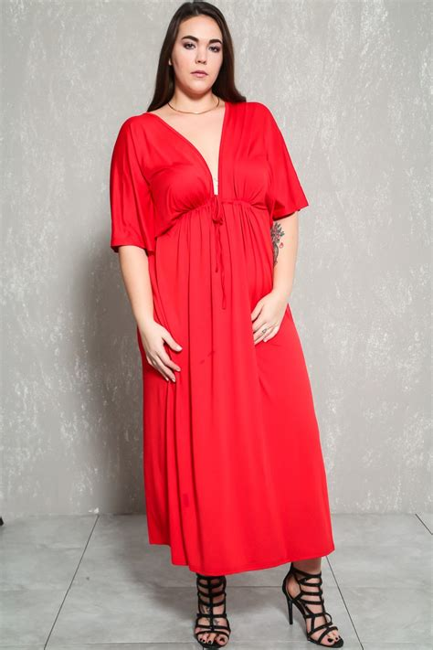 Fashion Dress Lp 2 A Gd2587 plunging plus size casual maxi dress