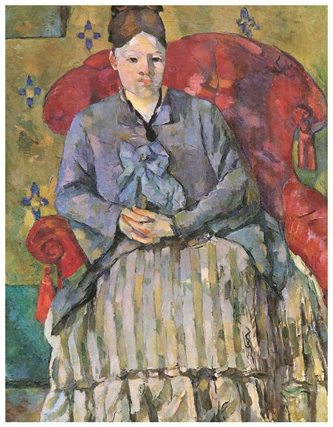 Madame Cezanne In A Armchair by Madame Cezanne In A Armchair Painting By Paul Cezanne