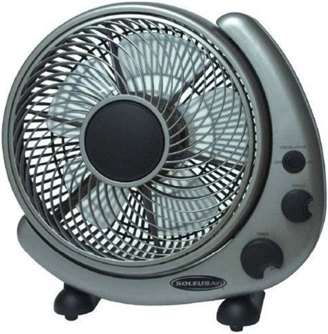soleus air table fan soleus air fty 25 table or wall mounted fan 10 quot 3 wind