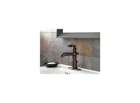 Open Top Bathroom Faucet Faucet 554 Pt In Aged Pewter By Delta